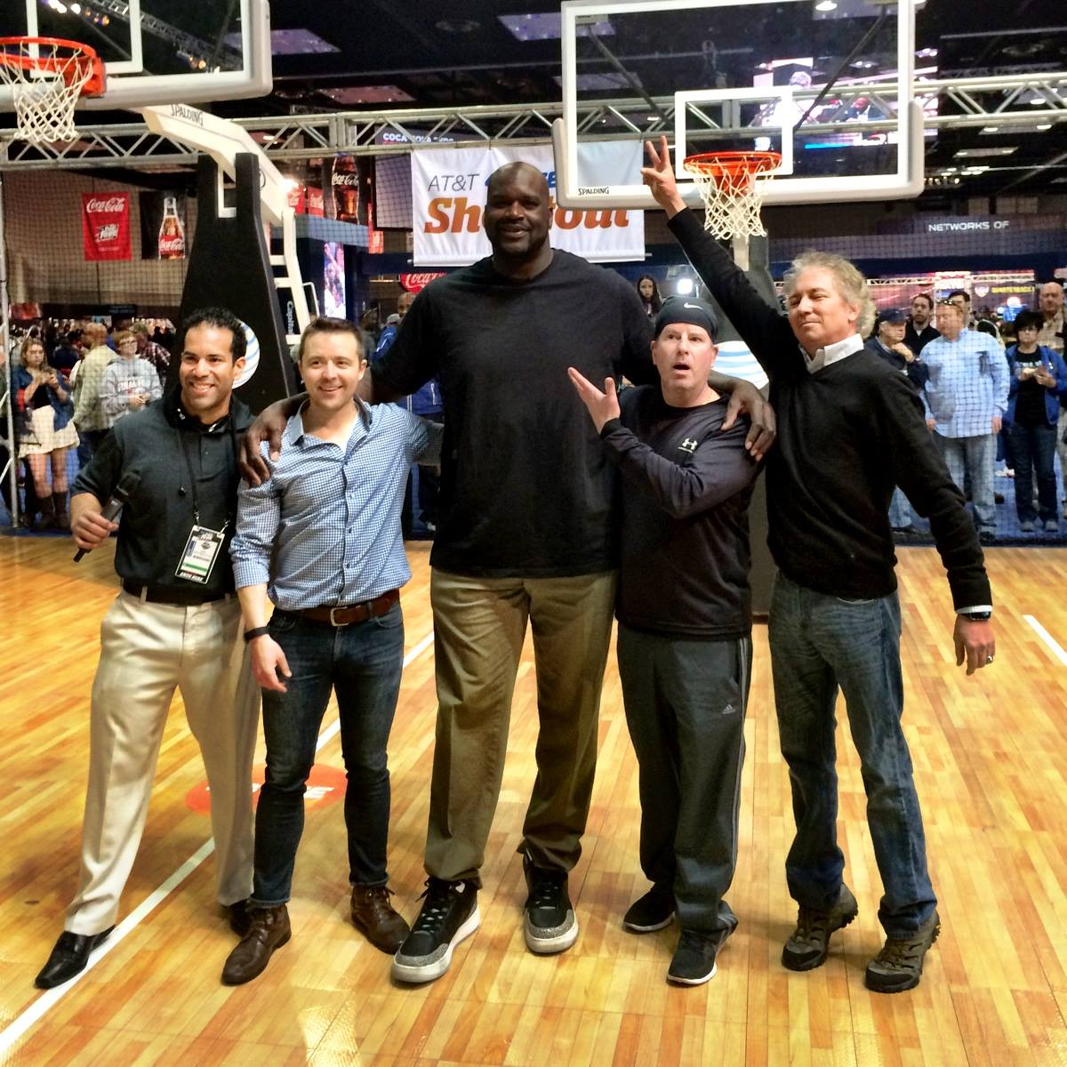 group shot with shaq its shaq